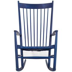Hans Wegner Rocking Chair Dining Covers Uk Blue Mid Century Modern For Sale At 1stdibs