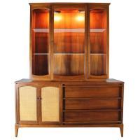 Lane Mid-Century Modern Rhythm China Cabinet Lighted with ...