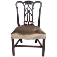 18th Century English Gothic Chippendale Mahogany Side ...