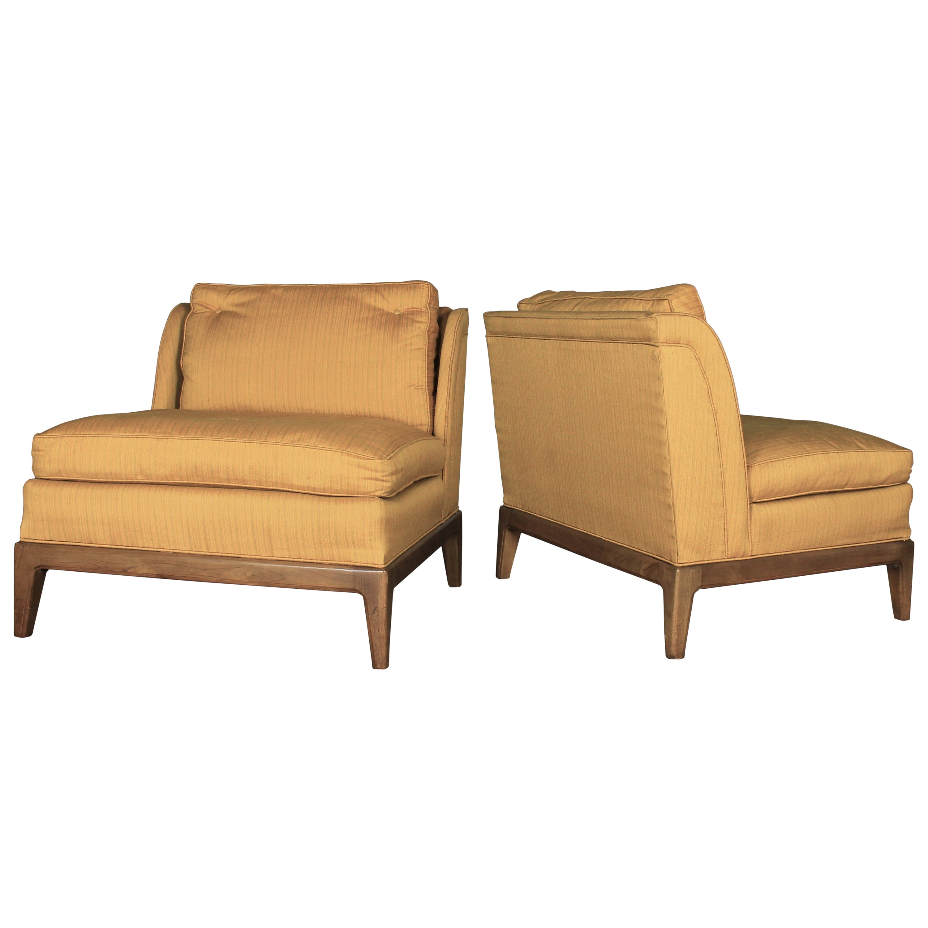 Sears Accent Chairs Gold Slipper Chairs Drexel For Sears Symphony Vintage Mid Century Modern Pair