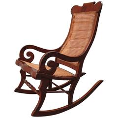 rocking chair cane prima pappa high chairs 23 for sale at 1stdibs 19th century st croix regency mahogany and