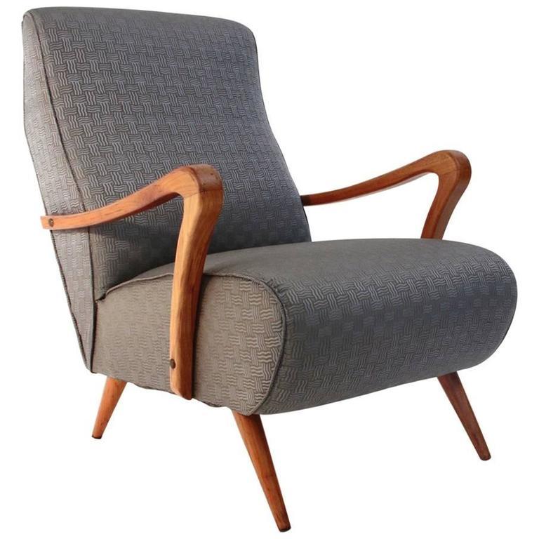 1940s italian wooden armrest