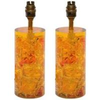 Pair of Yellow Lotte and Gunnar Bostlund Table Lamps For ...