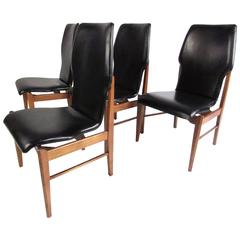 high back dining chair gym infomercial mid century set of chairs for sale at 1stdibs