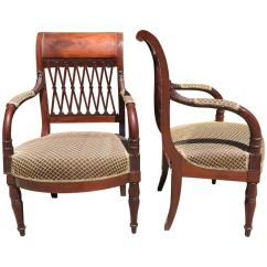 Arm Chairs For Sale Iron Peacock Chair French Mahogany 18th Century Directoire Pair Of