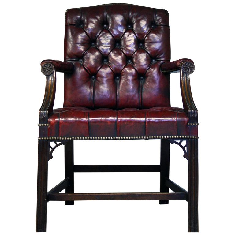 leather chairs for sale folding chair backpack early 20th century gainsborough style red at