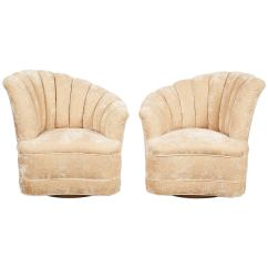 Swivel Chairs For Sale Wicker Indoor Pair Of Nautilus At 1stdibs