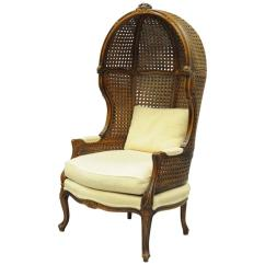 French Canopy Chair Glider Rocker Chairs Vintage Country Louis Xv Style Double Cane Italian Porter For Sale