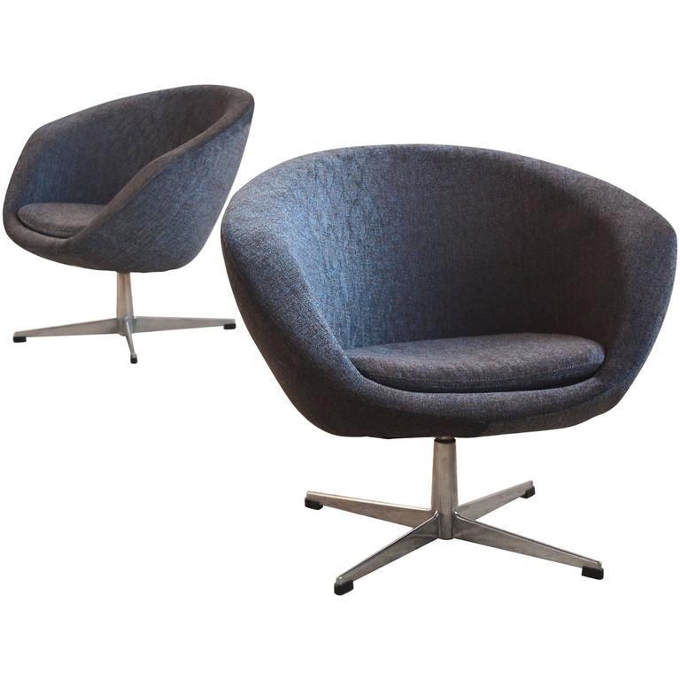 swivel lounge chairs front porch table and pair of by overman for sale at 1stdibs