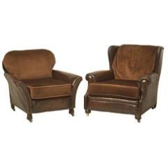 Small Leather Club Chairs Office Chair Headrest Extension 26 For Sale On 1stdibs Pair Of Original And Mohair