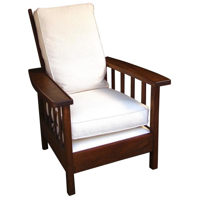 1930s Arts and Crafts William Morris Mahogany Lounge Chair