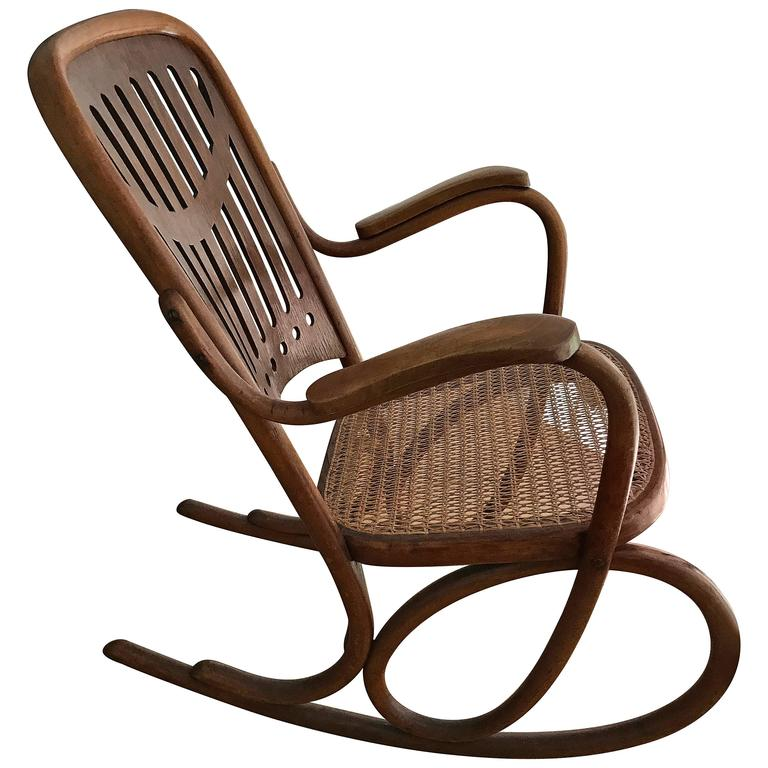 bent wood rocking chair tufted wing dining thonet bentwood nr 71 jugendstill collectors item for sale