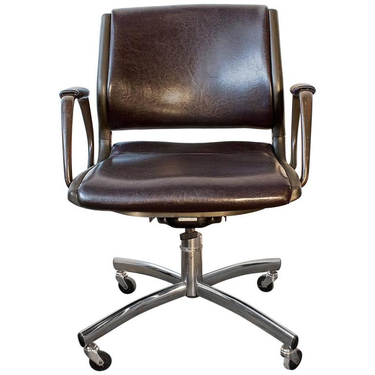 steelcase vintage chair office not revolving refinished at 1stdibs for sale