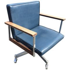 Swivel Office Chair With Wheels Fold Out Bed Nz On Sale Mid Century Casters For At 1stdibs