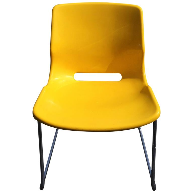 Signed Overman Yellow Side Chair at 1stdibs