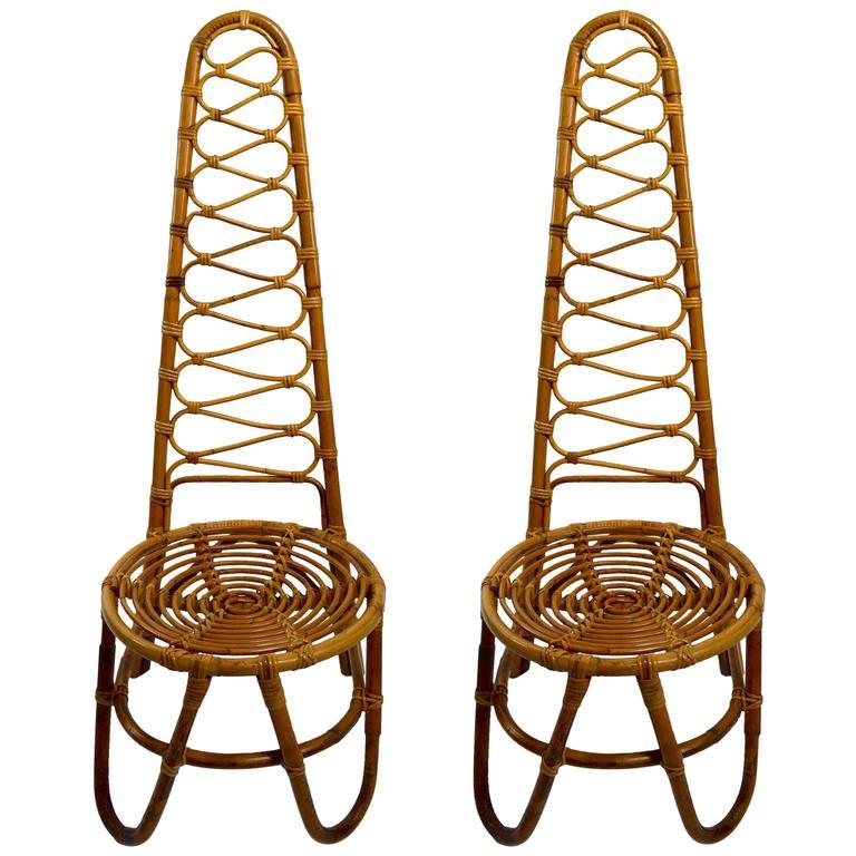 bamboo chairs for sale best ergonomic uk rare pair dirk van sliedregt rohe noordwolde high back