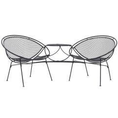 Tete A Chair Outdoor Unfinished Wood Frames John Salterini For Patio Pool Completely Restored Sale