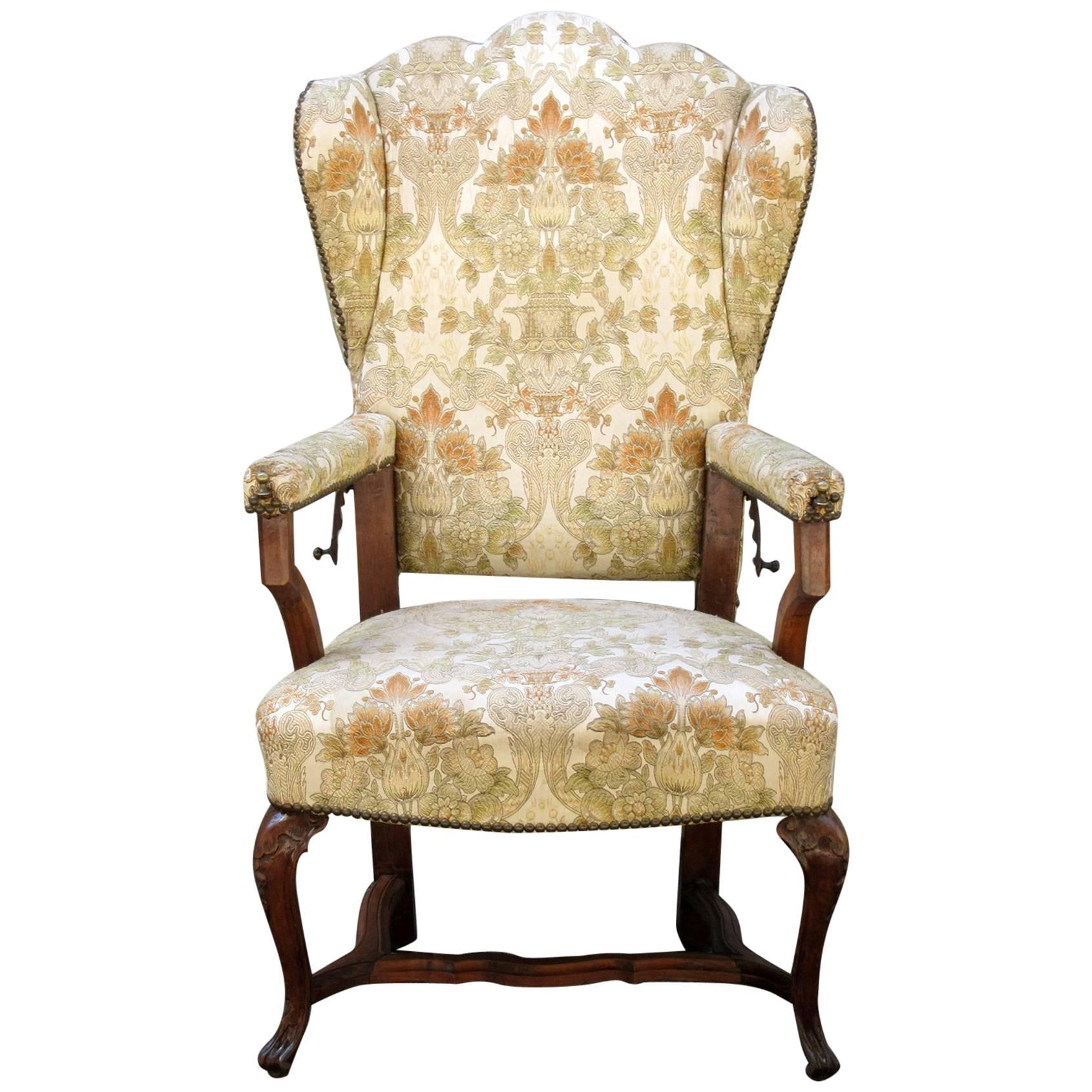 Wingback Recliner Chair 18th Century French Provincial Wingback Upholstered Reclining Chair
