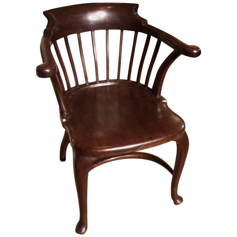 Antique Mahogany Office Chair at 1stdibs