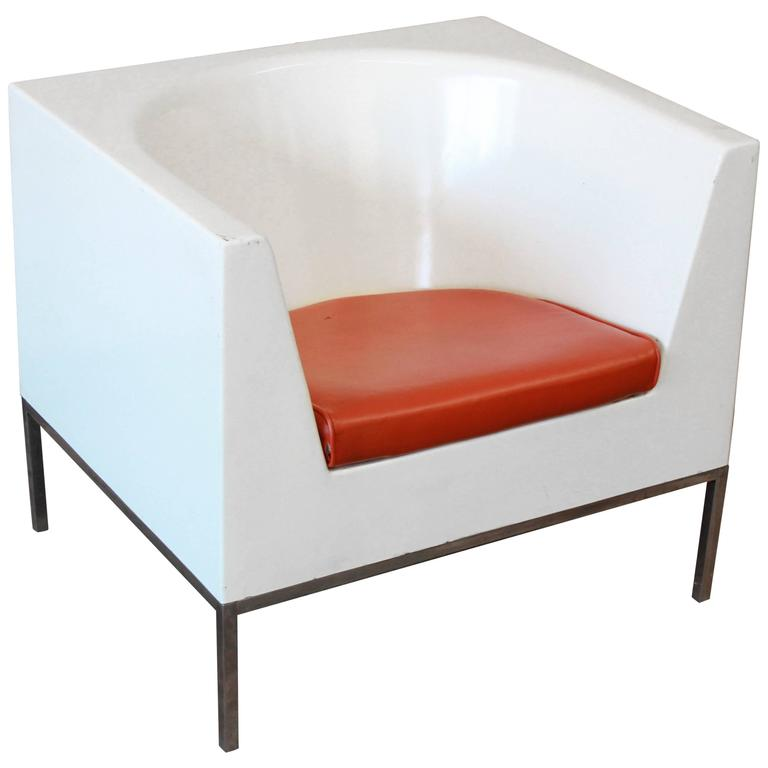 plastic lounge chair dinning seat covers massimo vignelli style cube chairs 1970s for sale at