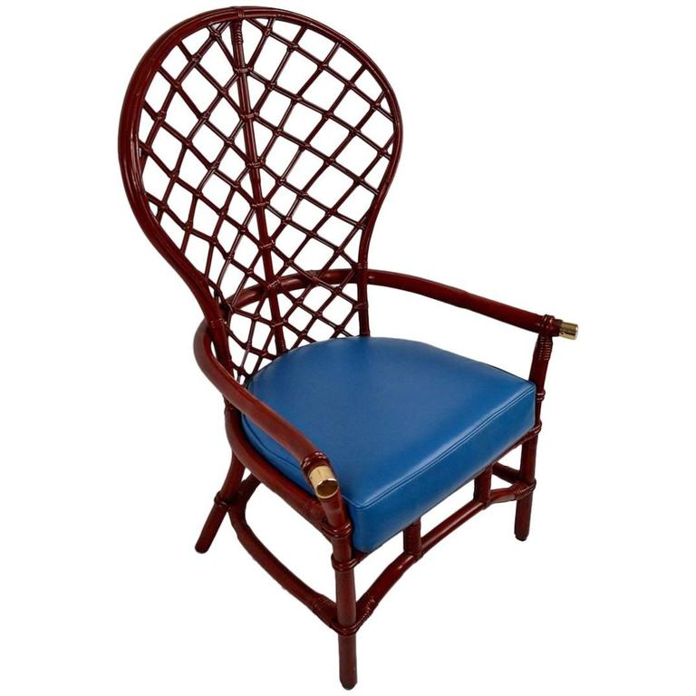 fan back wicker chair all weather rocking chairs high woven by ficks reed for sale at 1stdibs