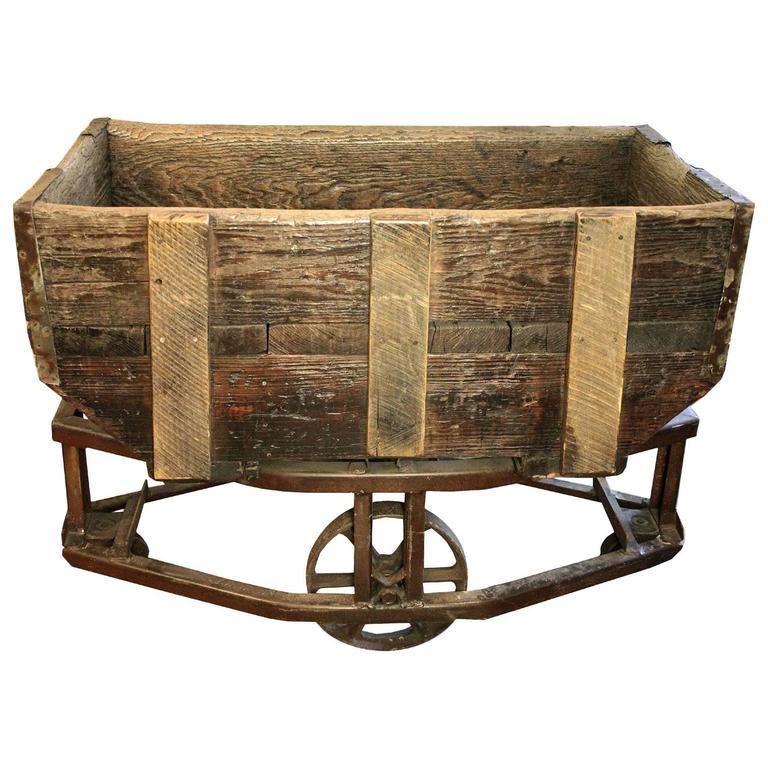 antique gold mining cart