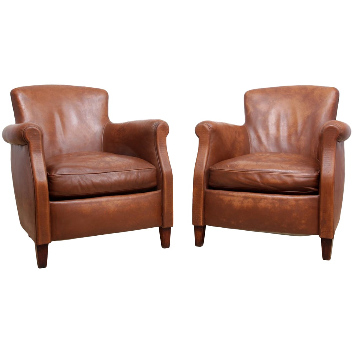 Small Club Chair Pair Of Small French Club Chairs