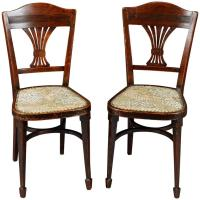 19th Century Pair of Art Nouveau Chairs For Sale at 1stdibs