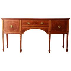 Antique Mahogany Sideboard Buffet By Baker Furniture Co