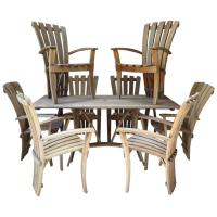 Outdoor Dining Set, France, circa 1970s For Sale at 1stdibs