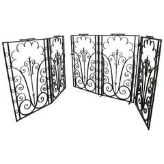 Early 20th Century Wrought Iron Gate in the Style of
