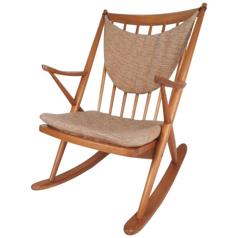 danish modern rocking chair airgo swivel desk mid century frank reenskaug for brahmin mobler sale