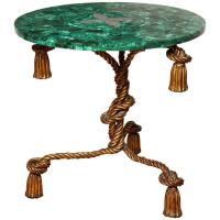 Malachite Topped Side Table For Sale at 1stdibs