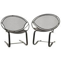 Pair of John Salterini Outdoor Patio Chairs on Springer ...