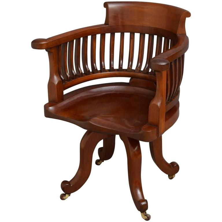 antique mahogany office chair graco high replacement parts victorian desk for sale at 1stdibs