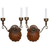 Pair of Anglo-Indian Two-Light Sconces at 1stdibs
