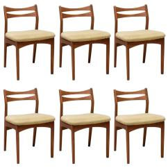 Danish Dining Chair West Elm And A Half Set Of Six Chairs By Christian Linneberg For Sale At