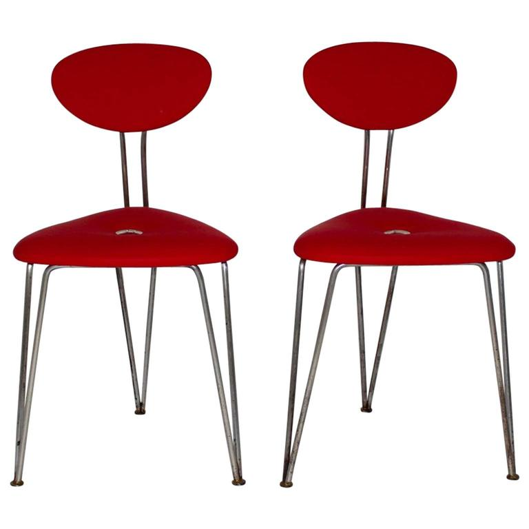 red chairs for sale back arch support chair by talos vienna circa 1950 set of two at 1stdibs