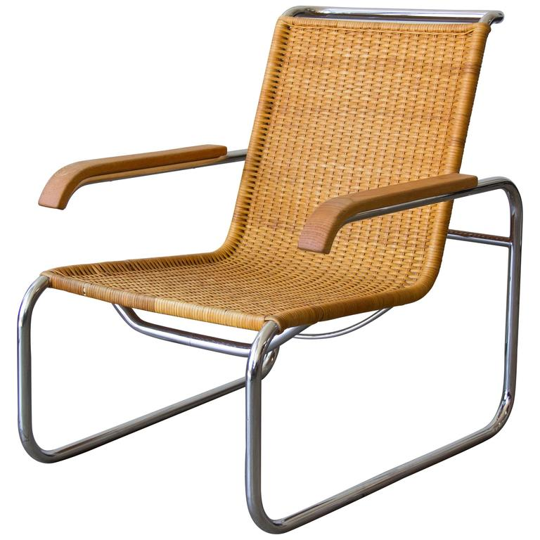 marcel breuer cesca chair with armrests sunbrella lounge replacement cushions for thonet b35 rattan at 1stdibs