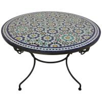 Moroccan Marble and Stone Mosaic Table Indoor or Outdoor ...