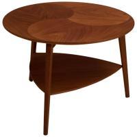 Vintage Danish Round Teak Side Table at 1stdibs