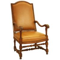 Italian Baroque Louis XIV Style Gold Leaf Oversized Chair ...
