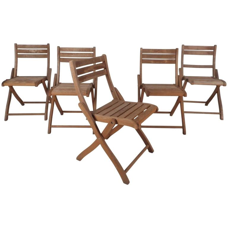 wooden folding chairs for sale ashley showood accent chair set of five mid century modern wood at 1stdibs