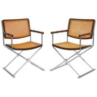 Directors Chair Leather and Chrome-Plated Steel Tubes For ...