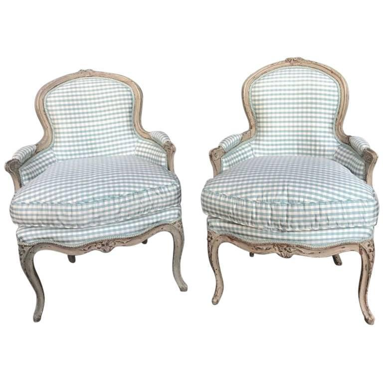 grey painted chairs overstock rocking pair of louis xv bergeres circa 1770 stamped g peridiez for