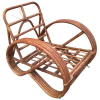 3/4 Round Pretzel Arm Lounge Chair in Bamboo and Rattan ...