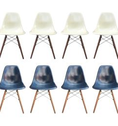 eight herman miller eames dining chairs in navy and parchment for sale at 1stdibs [ 3000 x 3000 Pixel ]