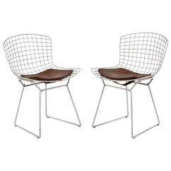 Bertoia Side Chair Rentals In Ct Vintage Pair Of White Chairs With Alligator Cushions For Sale