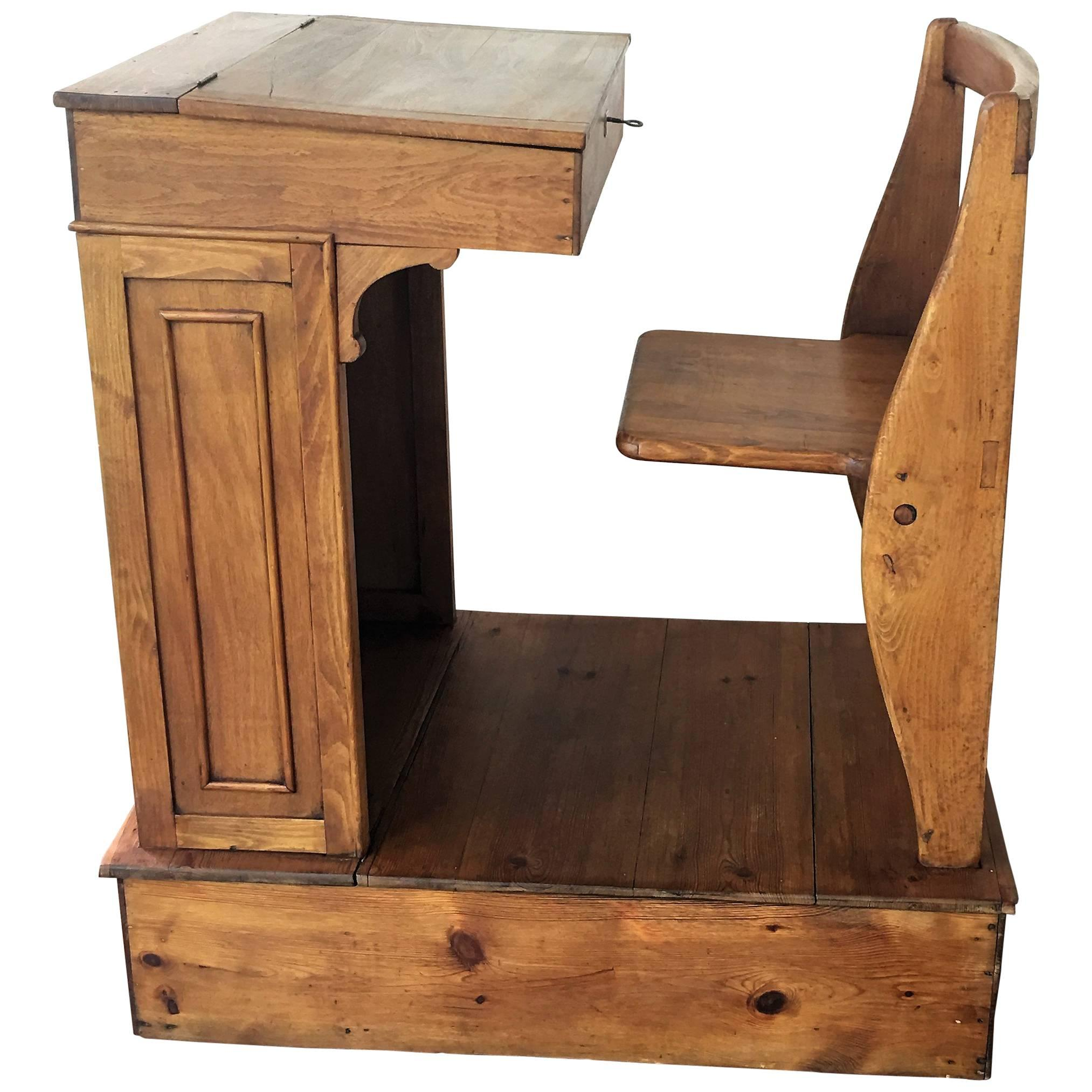 the revolving chair miami heated massage office 1940s children's adjustable spanish school desk in wood at 1stdibs