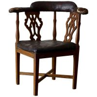 Chair Corner Swedish Leather Rustic Sweden For Sale at 1stdibs